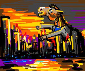 Bojack Horseman attacks city