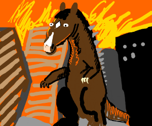 bojack horseman as godzilla