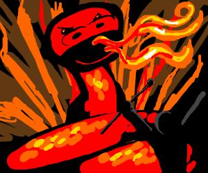 Summoning a fire snake