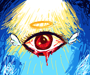 Bloody eye ascends to Heaven