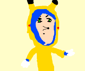 sonic in PikachuOnesie isa beautiful animegirl