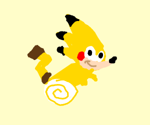 pikachu and sonic combine to create pikonic