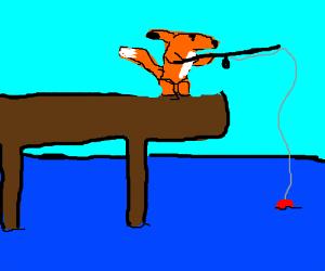 Fox goes fishing