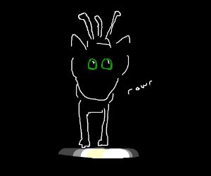 Black cat goes rawr