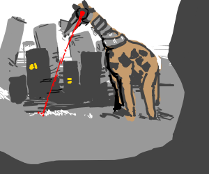 Robot Giraffe destroys city