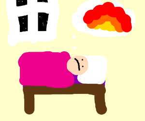 Hot thoughts don't let you sleep