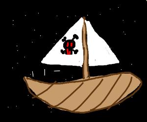 A pirate ship in space