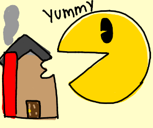 News: Pac-Man now eats a house