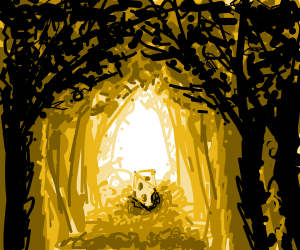 Cheese lies at the end of the forest path