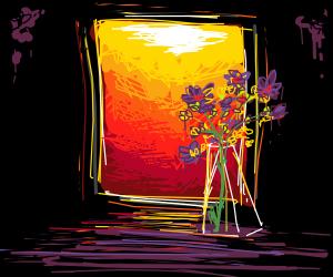 Vase on a Purple Table