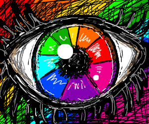 Color Wheel Eyeball Drawception