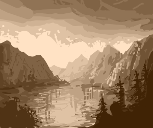 lake surrounded by mountains and trees