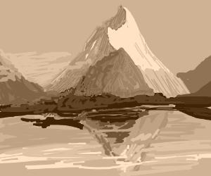 Beautiful Mountain by a Lake