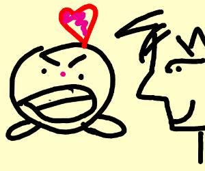 man in love with shreik-like Kirby