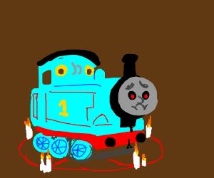 Depressed Satanic Thomas the Train
