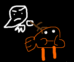 Ghost attacks Darwin Watterson with a stick