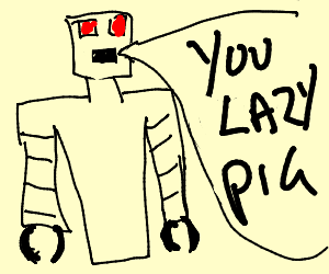 Evil robot insulting everyone