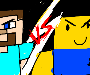 Roblox Vs Minecraft Graphics Minecraft Steve Vs Roblox Noob Drawception