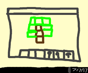 Johnny Test as a Cube - Drawception
