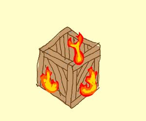 Burning Crate