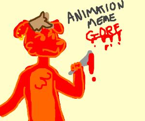 furry gore animation meme