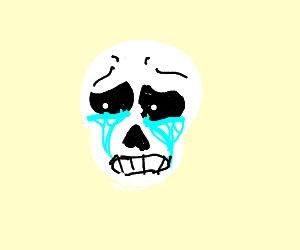 crying skeleton