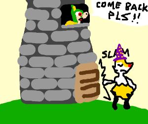 Wizzard shuts tower door