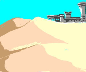 futuristic saharan village
