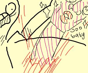 Alien Chestburster Drawing By 8 Bit Drawception