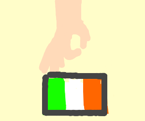 Italian (or possibly Irish) flag