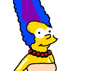 Marge Balding like Homer