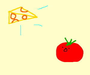 Tomato and a Floating Cheese