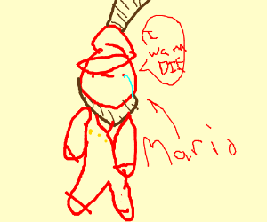 mario is going to hang himself