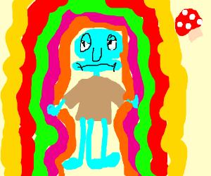 Psychedelic squidward