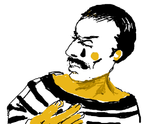 Freddie Mercury is a mime