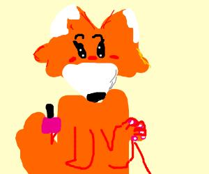 Fox nail painting