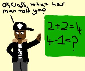 2 plus 2 is 4 minus 1 thats 3 quick maths