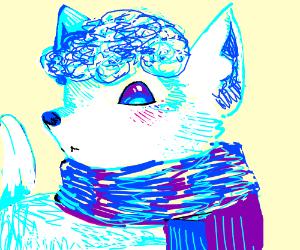Alolan Vulpix wearing a scarf