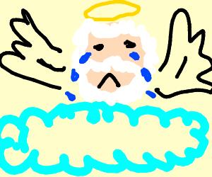 God is sad