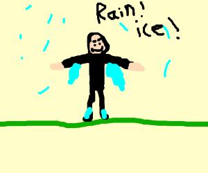 The lone frozen rain man