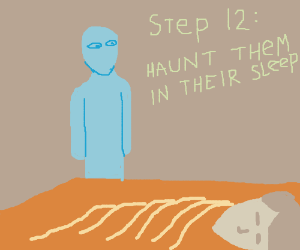 Step 11 do spoopy ghost stuff