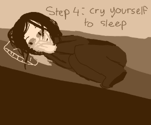 step 3: lay in bed for 3 days