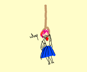 Sayori was left hanging