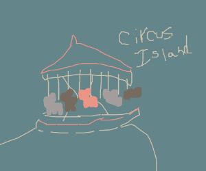 floating circus island