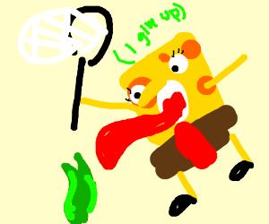spongebob decides to eat kelp