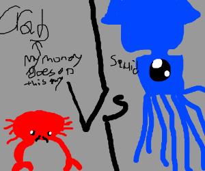 Crab VS. Squid PIO (I Pick Squid!)