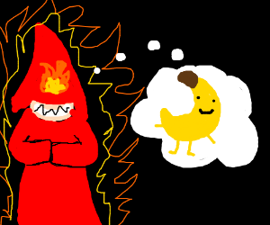 Occult arsonist yearns for bananas