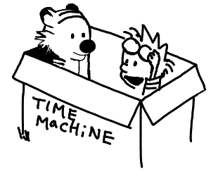 Calvin & Hobbes time machine