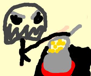 MF Doom makes mac & cheese - Drawception