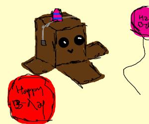 cardboard box birthday party!